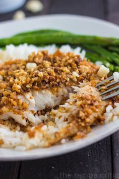Chili Macadamia Crusted Tilapia. Will work with any white fish.