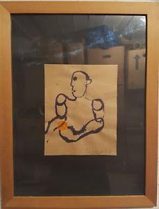 Akvarel, Erik Clausen, b: 33 h: 43