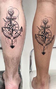 80 Tatuagens de Casal para você fazer com seu amor | TopTatuagens P Tattoo, Leg Tattoo Men, Calf Tattoo, Tattoo Set, Mom Tattoos, Arrow Tattoos, Cover Tattoo, Couple Tattoos, Arm Band Tattoo