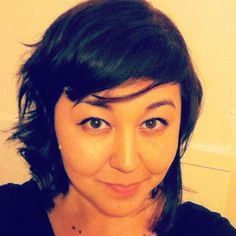 My haircut today: Inverted choppy bob with bangs