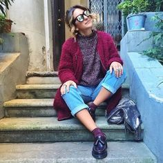 The Adrian Loafer in Cherry Red (available on UK website). Shared by alicedetogni on Instagram.