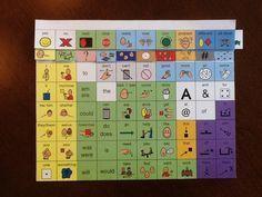 60 location Core Vocabulary communication flip book, PDF and boardmaker formats