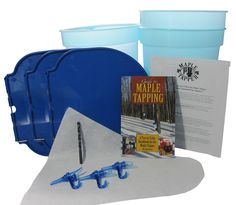 Deluxe Maple Sugaring / Maple Sap Tapping Starter Kit (Tap 3 Trees) Buckets and Spiles Method. Great holiday gift.