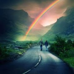 Somewhere, over the rainbow, there's a land that I heard of once in a lullaby. Birds fly over the rainbow why, oh why, can't I. Over The Rainbow, Love Rainbow, Rainbow Promise, Rainbow Light, Rainbow River, Rainbow Art, Beautiful World, Beautiful Places, Beautiful Pictures