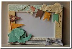 DSC_0130 cornice con elefante e bandierine Diy Arts And Crafts, Felt Crafts, Crafts For Kids, Paper Crafts, Photo Frames For Kids, Picture Frames, Diy Cardboard Furniture, Elephant Party, Baby Frame