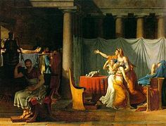 The Lictors Bring to Brutus the Bodies of His Sons is a 1789 painting by the French painter Jacques-Louis David in the Neo-Classical manner.