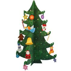 Christmas Tree,free pdf template and constructions