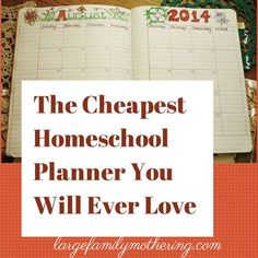 The Cheapest Homeschool Planner You will ever love. Planner put together for about a dollar with a composition book and some crafting and office supplies. Very nice!