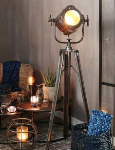 Black floor lamp rnrnSource by silkehuyghe Home And Living, Living Room, Student Room, Black Floor Lamp, Night Lamps, Tripod Lamp, New Room, Sofa Set, Room Inspiration