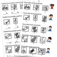 """J'ai décidé de reprendre mes fiches d'encodage et d'en faire une version """"mini"""" afin de limiter le nombre de photocopies. Les élèves reçoivent dont une petite """"bande"""" avec 3 ou 4 dessins et ils..."""