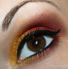 Iron Man eye makeup http://www.talasia.de/2012/12/10/sultry-thursday-gold-und-rot/
