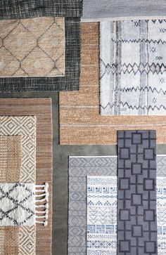 Coastal area rugs in blue and neutral tones. Find seagrass textures & subtle patterns in a wide range of sizes.
