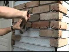 House : How To Replace Vinyl Siding with Real Brick