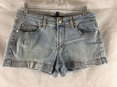 Dollhouse Blue Denim Short Shorts Slight Distress Size 11  #Dollhouse #Denim