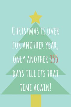 Christmas is over and its now time to go back to work. I hope everyone had a nice break and spent quality time with their families. And remember there's only another 355 days to go!