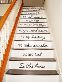 In this house STAIR CASE Stairway Art Wall by VillageVinePress, $34.95