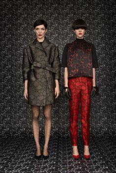 Louis Vuitton Pre-Fall 2013 Fashion Show - Look 5: Janice Alida   Look 6: Ruby Jean Wilson