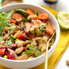 Healthy Thai Coconut Quinoa Bowls - Fit Foodie Finds