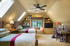 Child Room Slanted Ceilings Design Ideas, Pictures, Remodel, and Decor - page 24