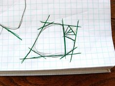 brilliant tut on creating a paper pieced pattern for any object/drawing.  draw seam lines tut by quirky granola girl