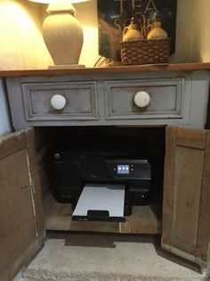 Blog | Crown Cottage Somerset - Antique & Vintage furniture hand painted in the unique style best suited for each piece. Hide Your Printer In Your Cupboard Cabinet.