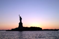 Admire the Statue of Liberty at sunset #nyc #travel