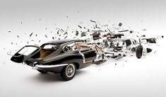 1961 Jaguar E-type. Cool disintegrating cars photos by Fabian Oefner (http://fabianoefner.com/?page_id=644)