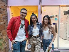 NadineOnTheDrive with Debbie Then and Aaron Atayde (ctto) Nadine Lustre, Ig Post, Filipino, Celebrities, Outfits, Celebs, Suits, Kleding, Celebrity
