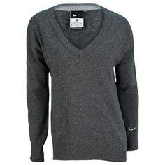 NIKE WOMENS DRI FIT TENNIS SWEATER -  so cute! love that gray.