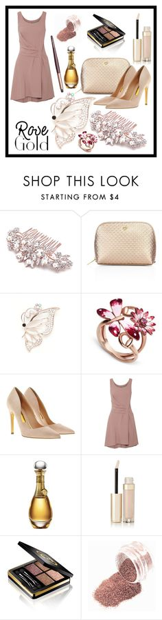 """""""#rosegold"""" by edin-levic ❤ liked on Polyvore featuring Tory Burch, Kim Rogers, Gucci, Rupert Sanderson, Maiyet, Christian Dior, By Terry and Charlotte Tilbury"""
