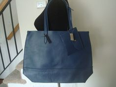 NWT J Crew  Downing tote item A4399 Blue Large  #JCrew #satchel