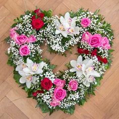 Orchid Heart - Funeral Wreaths