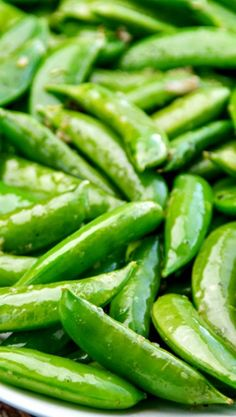 Easy Garlic Snap Peas