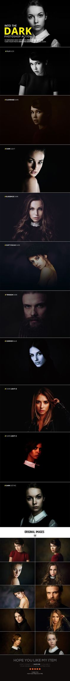 Into The Dark Photoshop Action - Photo Effects Actions