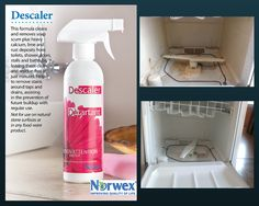 Norwex DeScaler versus Interior of a Dishwasher. Thank you to Norwex Consultant, Vanessa Pronge, for the before and after images.