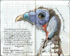Some days this is kind of how I feel, not exactly a vulture, and rather blue about the gills.  Thank you Roz Stendahl!