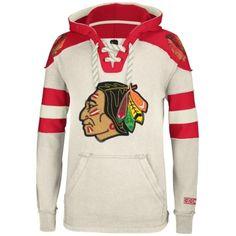 6fda28b7431ede Chicago Blackhawks Reebok Pullover Hoodie – Cream Hockey Gear