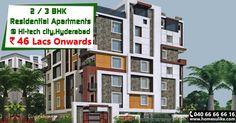 #2BHK and #3BHK Residential apartments for sale at #Hi-Tech city @ affordable prices with all required Amenities. One of the best residential #property in Hyderabad for investment as the property site is close to all the public utilities.  For more Details just click on http://www.homesulike.com/index.php/projects/viewdetails/Sree-Sainatha-towers  Call us 040-66666616 for site visit.