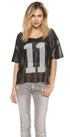 Love Leather Football Jersey Tee