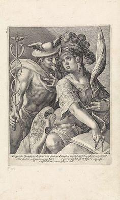 Crispijn van de Passe (I) | Mercurius en Minerva, 1589