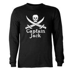 Captain Jack Long Sleeve Dark T-Shirt
