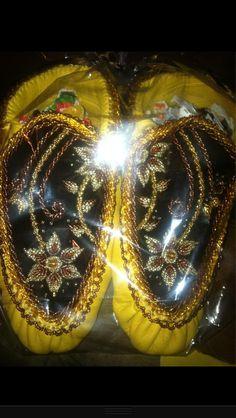 Raised beadwork haudenosaunee style moccasins