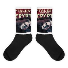 Mr Barlow Tales from the Crypt Socks Awesome Socks, Cool Socks, Tales From The Crypt, Us Man, Horror Movies, Bold Colors, Artwork Prints, Black, Women
