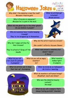 Get into a spooky mood with these Halloween jokes for kids! Scroll down to enjoy them online, or print them in various formats to enjoy later. The printables make a great non-food treat to hand out to trick-or-treaters, or a nice little addition. Halloween Poems For Kids, Halloween Riddles, Halloween Activities, Halloween Party, Funny Halloween Jokes, Halloween 2020, Holidays Halloween, Happy Halloween, Thanksgiving Jokes