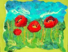 Felted paint / picture