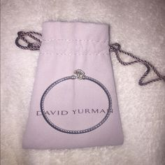 David Yurman Starburst Cable Bracelet Comment if you are interested. Like brand new only worn a few times. Beautiful David Yurman bracelet with diamonds. David Yurman Jewelry Bracelets
