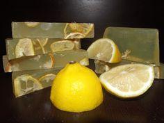 Χειροποίητο Σαπούνι Λεμόνι, κατά της ακμής Handmade Lemon Soap, anti-acme.