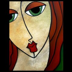 Art: Faces1187 2228 Original Abstract Art Painting Eloquent by Artist Thomas C. Fedro