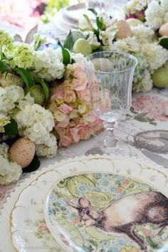 Floral Friday: Teapot Bouquets + Lakeside Table by the Azaleas – Home is Where the Boat Is Spring Flowering Bulbs, Floral Foam, Easter Celebration, Table Flowers, Flower Vases, Easter Table, Easter Decor, Table Runners, Flower Arrangements