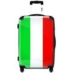 iKase 'Italian Flag',Carry-on 20-inch,Hardside, Spinner Suitcase